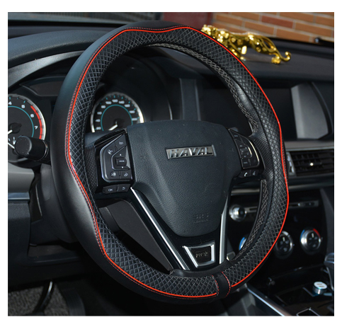 1. Rueesh Steering Wheel Cover- Genuine Leather