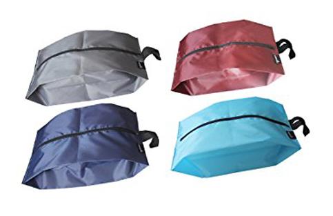 9. Misslo Portable Nylon Travel Shoe Bags Mix colors