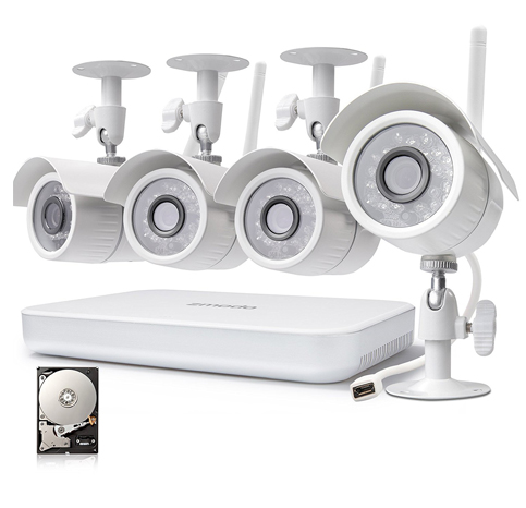 1. Zmodo 4CH 1080p HDMI NVR Home Security Camera System