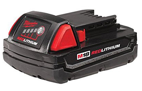 8. Milwaukee 48-11-1815 M18 18-Volt Lithium-ion Battery
