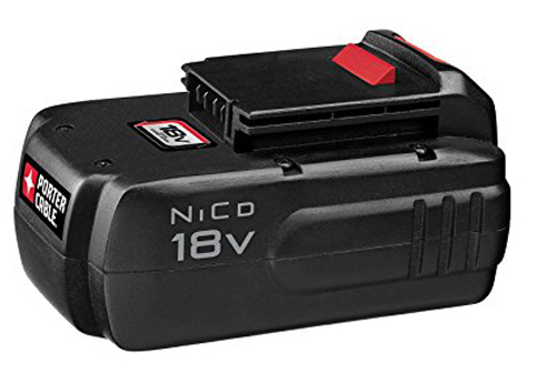 10. PORTER-CABLE PC18B 18-Volt NiCad Cordless Battery Pack