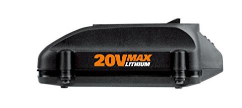 6. WORX WA3520 20-Volt 1.5 Amp Hour MaxLithium Battery