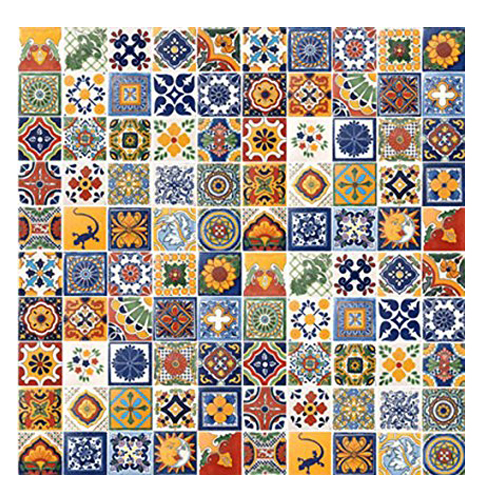 "10. Casa Daya Tile 4"" x 4"" Hand Painted Mexican Tiles"