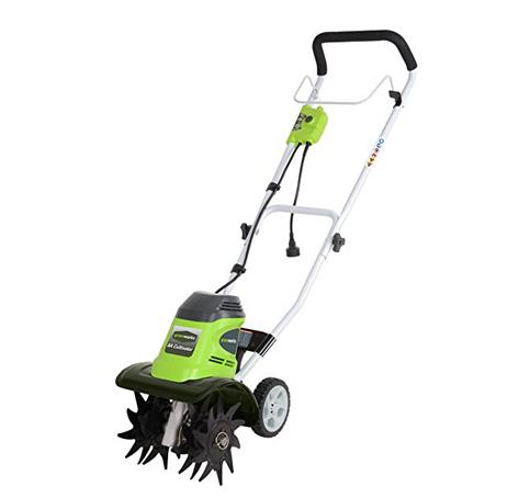 9. GreenWorks 8 Amp Corded Tiller (27072)