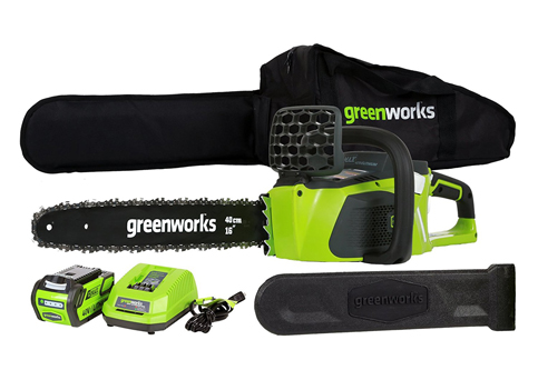 6. GreenWorks Cordless Chainsaw (20312 G-MAX)