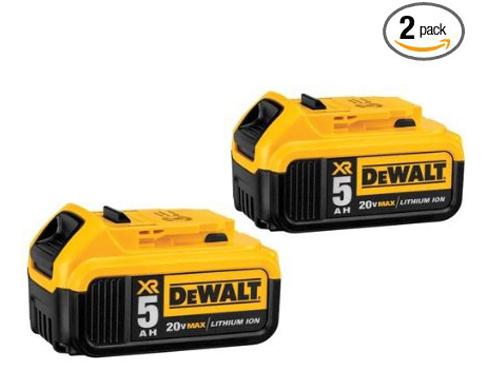 4. DEWALT DCB205-2 20V Li-on Battery