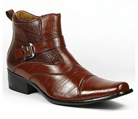 6. Delli Aldo Men's Ankle Boots (Buckle Strap)
