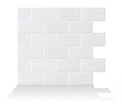 9. Tic Tac Tiles White Stick Wall Tile