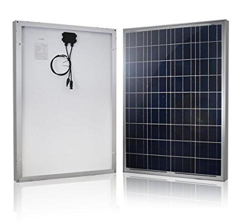 6. HQST 100 Watt, 12- Volt Polycrystalline Solar Panel