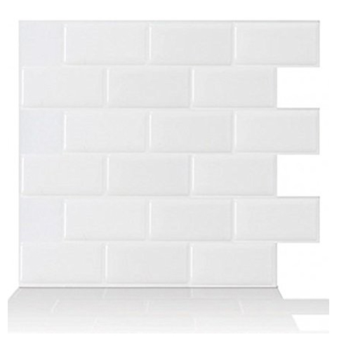 1. Tic Tac Tiles 10 Pack White Stick Wall Tile