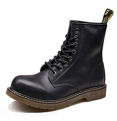 6. OUOUVALLEY Men's Genuine Leather Combat Boots