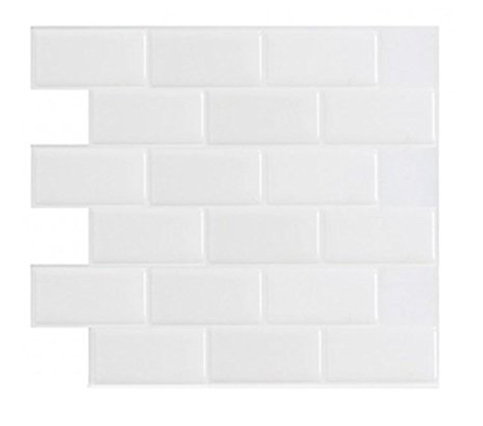 4. Art3d 10 Sheets Peel and Stick White Tile