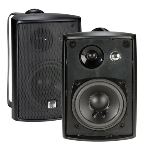 3. Dual Electronics LU43PB 3-Way High-Performance Bookshelf Speaker