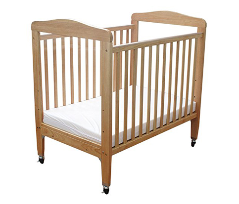 8. LA Baby Compact Non-folding Wooden Window Crib