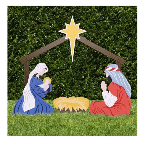 outdoor nativity store holy family yard scene set