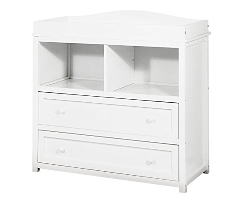 4. Athena White 2 Drawer Changer (Leila)