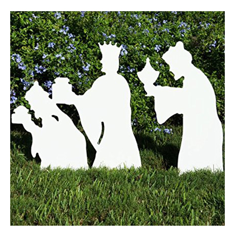teak isle christmas 3 wise men nativity figures - Teak Isle Christmas Decorations