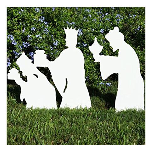 5. Teak Isle Christmas 3-Wise Men Nativity Figures