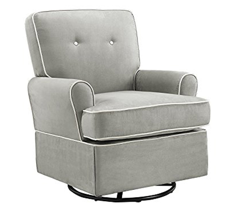 9. Baby Relax Grey Glider Chair