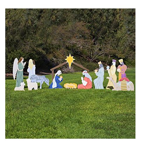 9. Outdoor Nativity Classic Nativity Outdoor Set