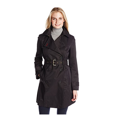 3. Tommy Hilfiger Double-Breasted Trench Coat for women