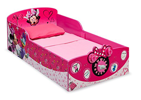 6. Delta Children Interactive Wood Toddler Bed