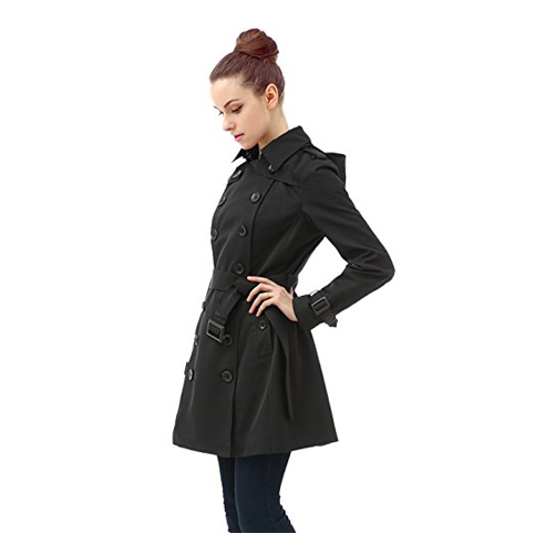 9. BGSD Leah Hooded Trench Coat for women
