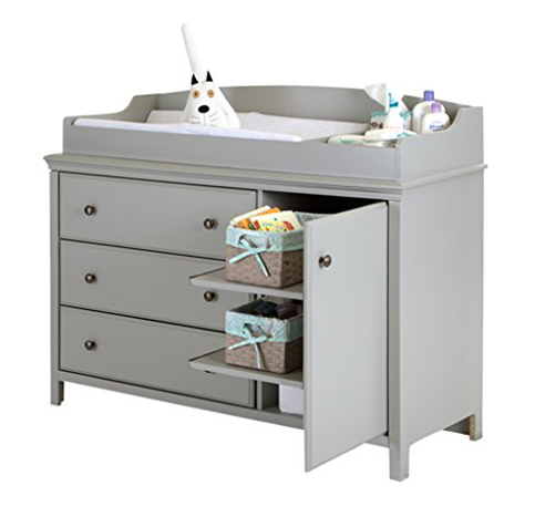 8. South Shore Soft Gray Changing Table