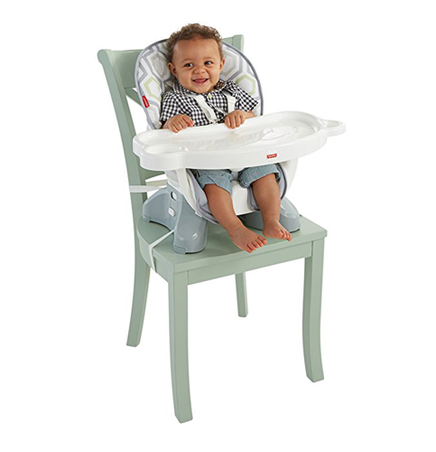 8. Fisher-Price Geo Meadow SpaceSaver High Chair