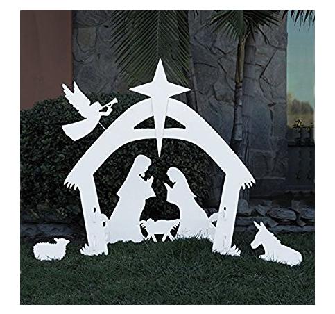 3. Giant Outdoor Nativity Scene