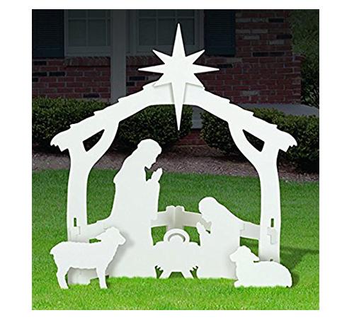 6. Outdoor White Nativity set