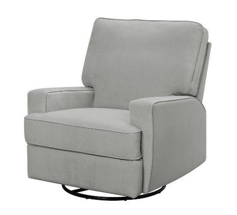8. Dorel Living Gray Gliding Recliner