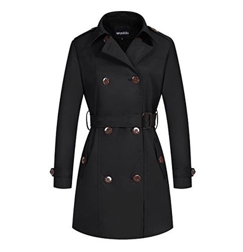 2. Wantdo Women's Double-Breasted Coat