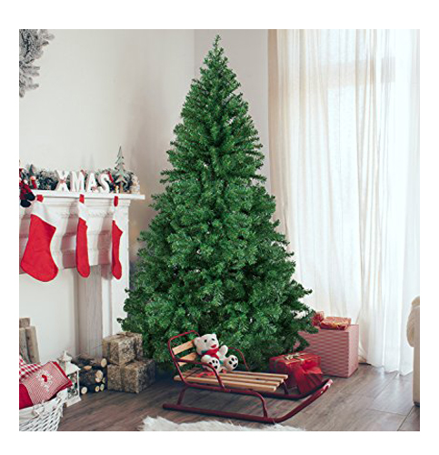 1. Best Choice Products 6 Feet Premium Hinged Artificial Christmas Pine Tree