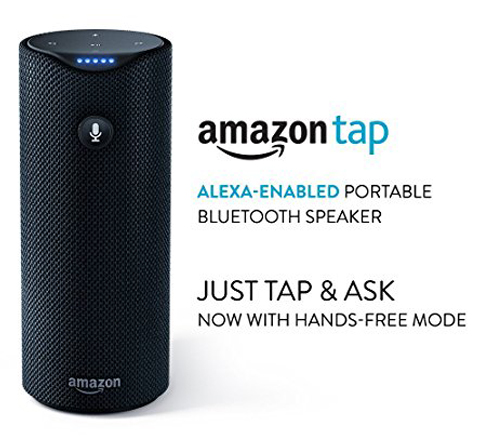 2. Alexa-Enabled Amazon Tap Bluetooth Speaker