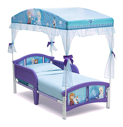 10. Delta Children Canopy Toddler Bed