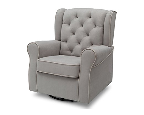 10. Delta Children Dove Grey Glider Chair