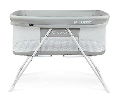 2. MiClassic 2in1 Rocking Bassinet Travel Crib