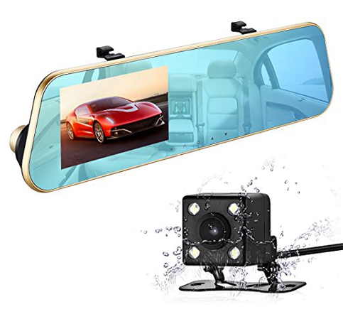 top 15 best rear view mirror dash cam in 2018 reviews. Black Bedroom Furniture Sets. Home Design Ideas