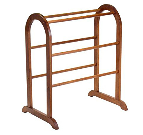 8. Winsome Wood Walnut Quilt Rack