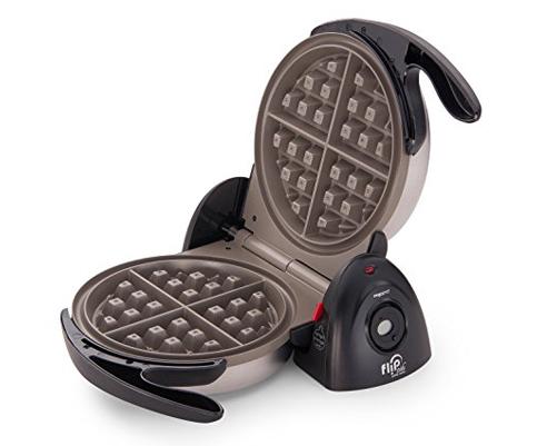 1. Presto 7-Inch Black Belgian Waffle Maker (03510)