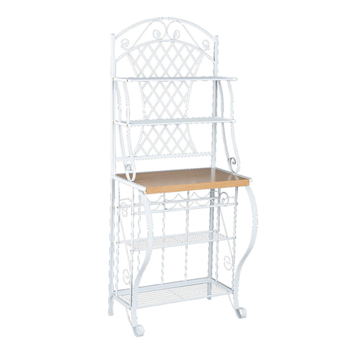 8. Southern Enterprises Trellis Bakers Rack with Scroll Work