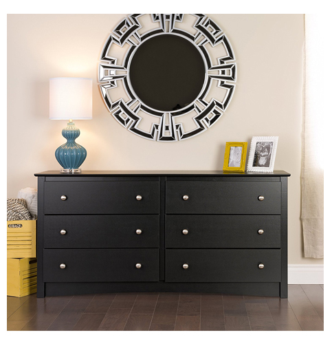 7. Prepac Black Sonoma 6 Drawer Dresser