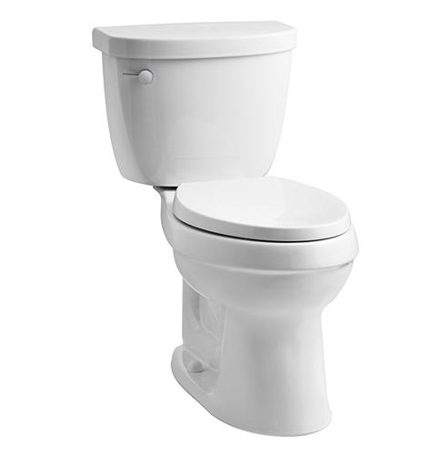 3. KOHLER K-3609-0 Cimarron Two-Piece Toilet