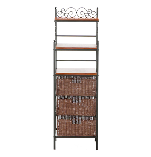 6. Manilla 3-Drawer Bakers Rack