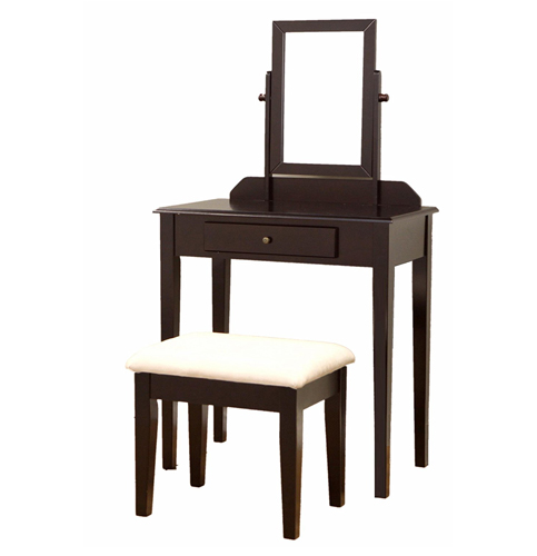 7. Frenchi Home Furnishing Espresso Finish Vanity Set
