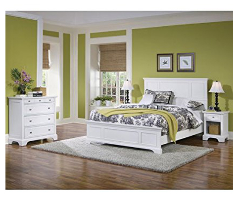Home Styles White Finish Queen Bed, Night Stand And Chest (5530 5014)