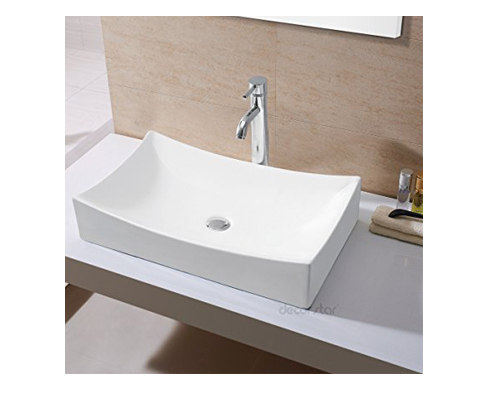 10. Decor Star CB-001 Bathroom Porcelain Ceramic Vessel Vanity Sink
