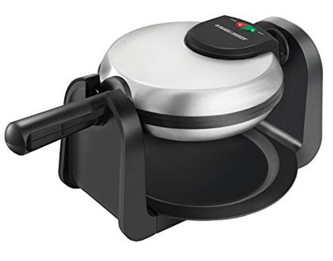 8. BLACK+DECKER WM1404S Silver Waffle Maker