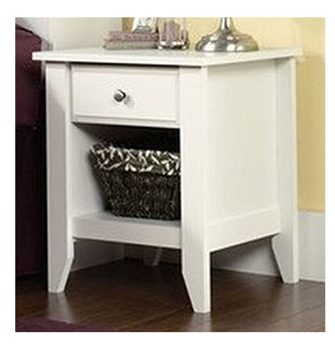 8. Sauder shoal creek nightstand-Has a shelf and a drawer